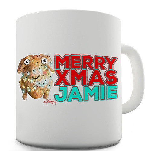 Cartoon Christmas Turkey Personalised Mug