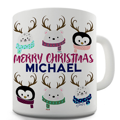 Cute Christmas Animals Personalised Mug