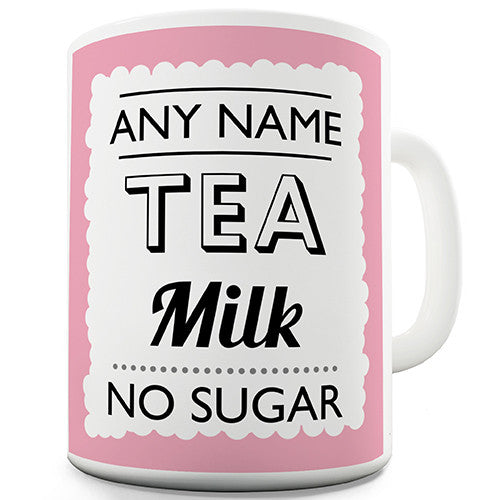 Pink Hot Drink Order Personalised Mug