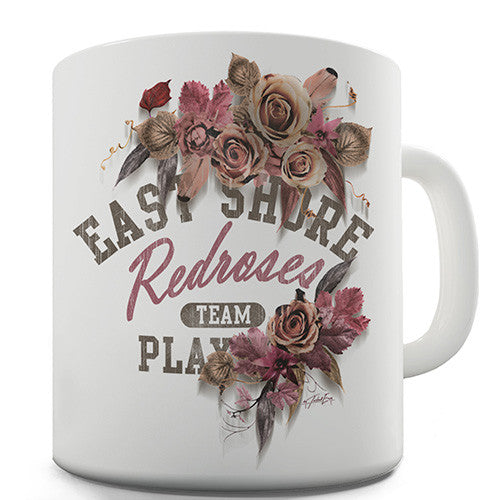 East Shore Red Roses Novelty Mug