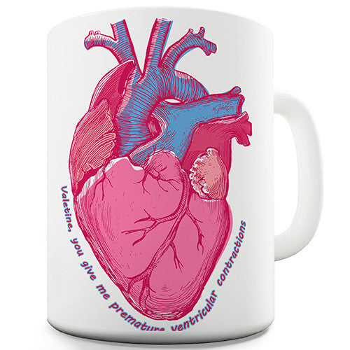 Anatomically Correct Heart Contractions Novelty Mug