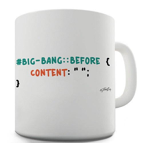 CSS Pun Big Bang Novelty Mug
