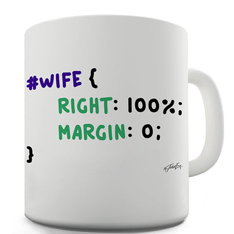 CSS Pun Wife Novelty Mug
