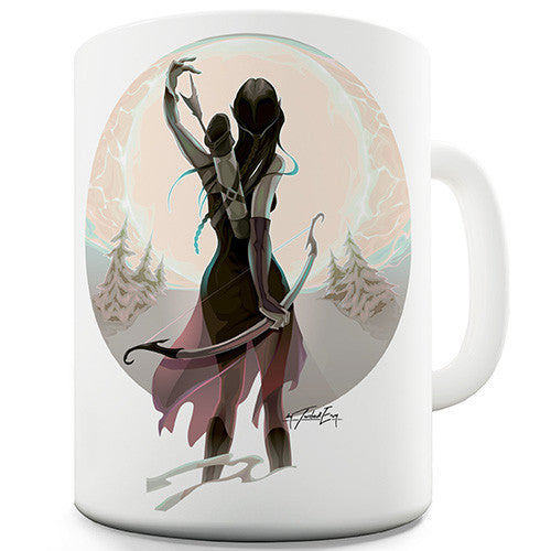 Fantasy Elf With Bow and Arrow Novelty Mug