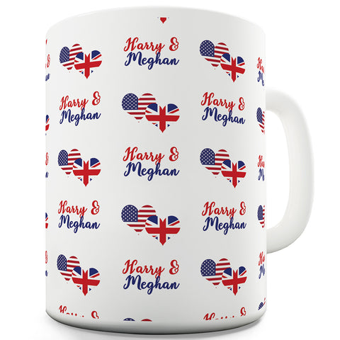 Harry & Meghan USA UK Pattern Funny Mugs For Dad