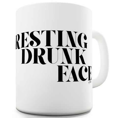 Resting Drunk Face Ceramic Novelty Gift Mug