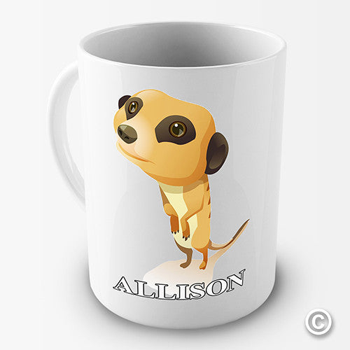 Cute Meerkat Personalised Mug