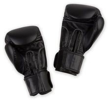 Star Boxing Gloves - Black/Black