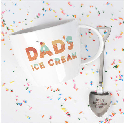 Dad's Ice Cream Spoon And Mug - Father's Day Gifts 2020