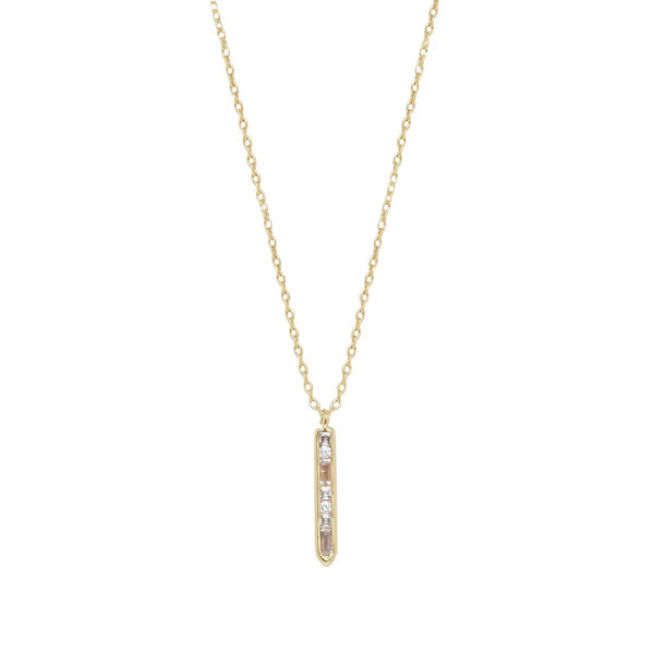 Arlo And Arrows Jewelry - Dainty Crystal Bar Drop Necklace