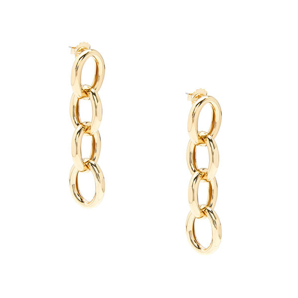 Arlo And Arrows Jewelry - Gold Chunky Chain Drop Earrings
