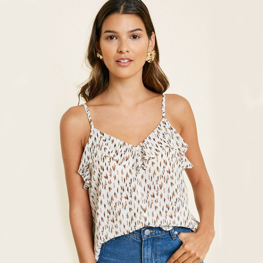 White Leopard Print Loose Blouse - Arlo And Arrows
