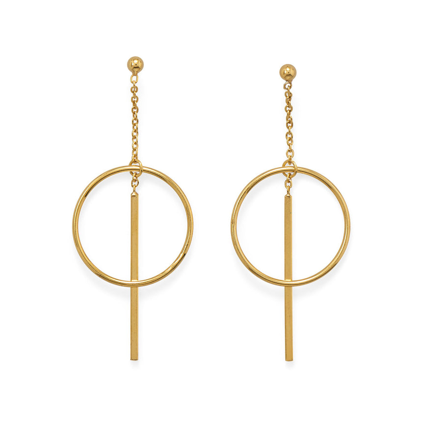 14K Gold Plated Statement Bar Earrings - Arlo And Arrows