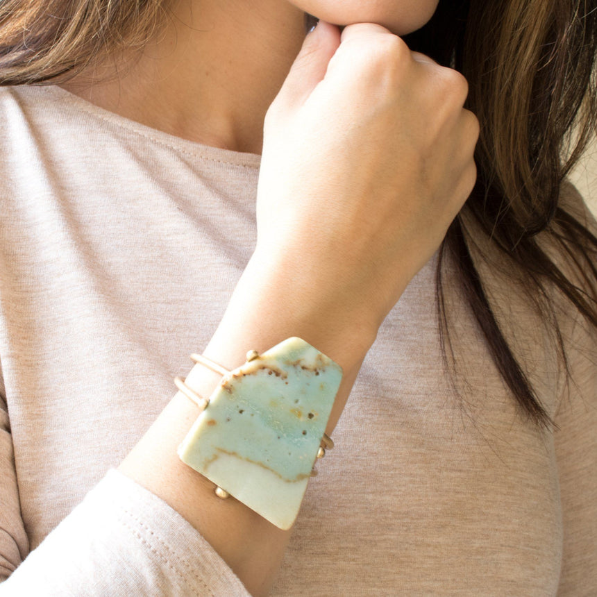 'Lynn' Stone Bracelet in Mint - Arlo and Arrows