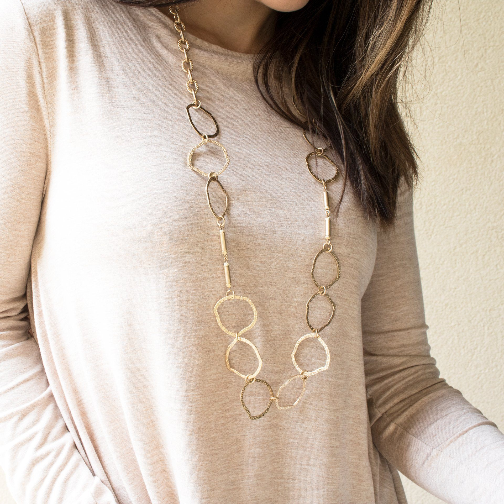 'Erika' Gold Organic Link Necklace - Arlo and Arrows