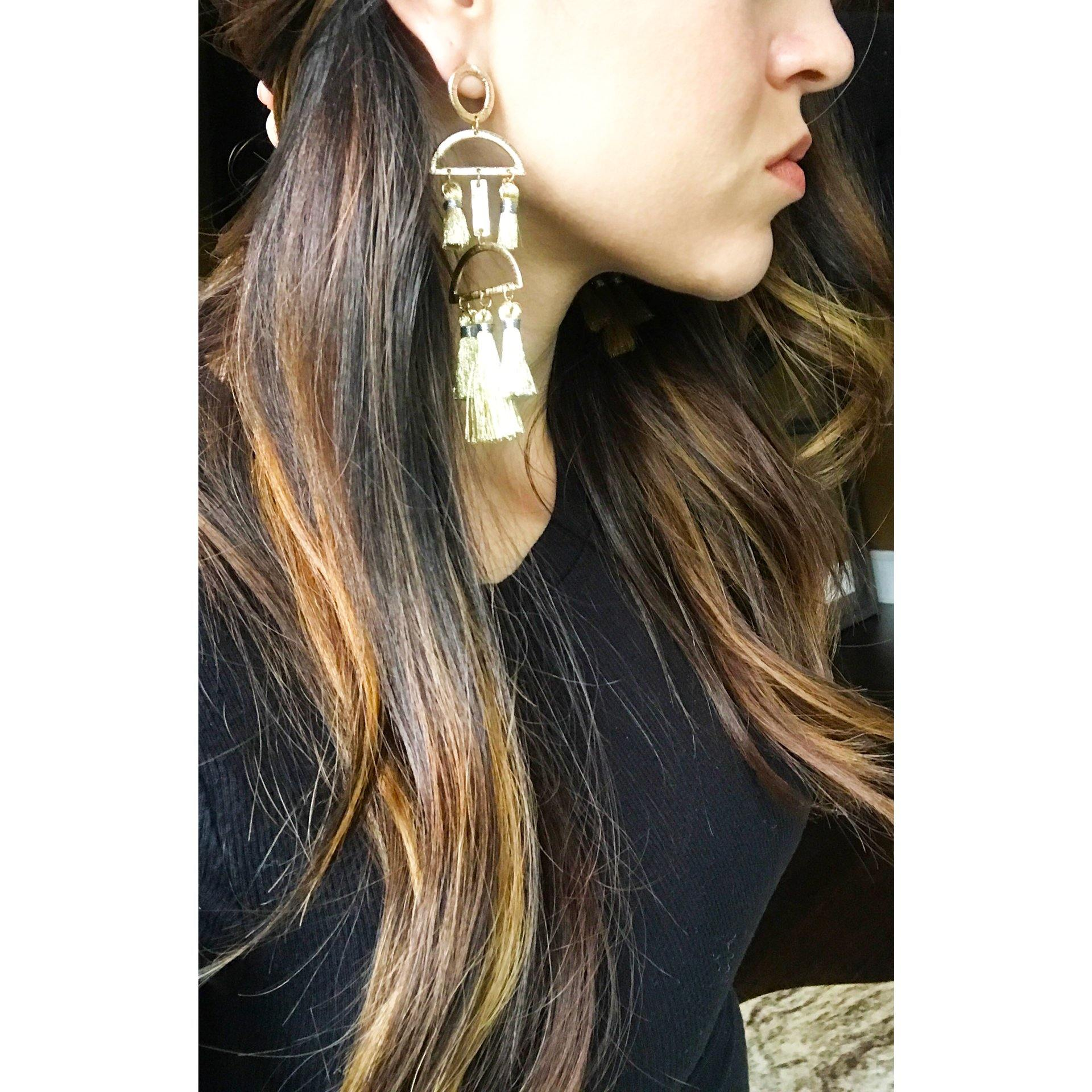 Waterfall Statement Earrings - Arlo and Arrows