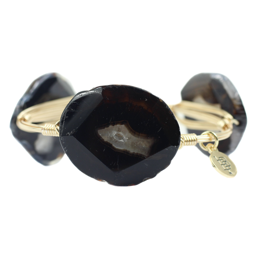 Black And Brown Stone Bracelet - Arlo And Arrows