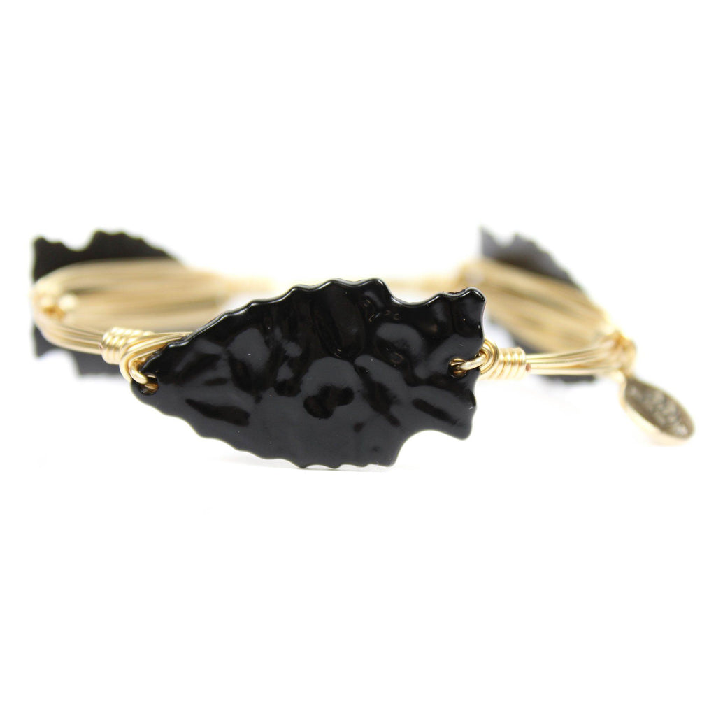 Black Arrowhead Bangle Bracelet - Arlo and Arrows