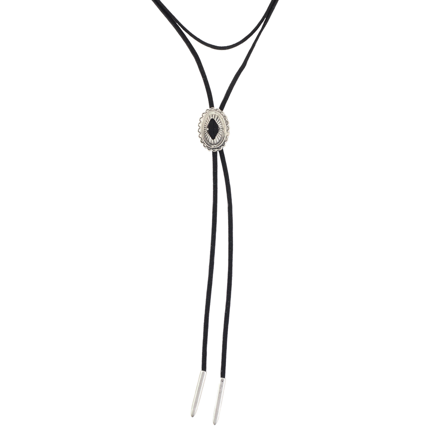 Black Bolo Tie Necklace - Arlo And Arrows