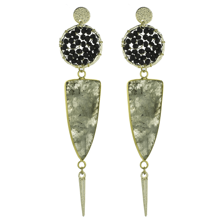 Unique Stone Earrings