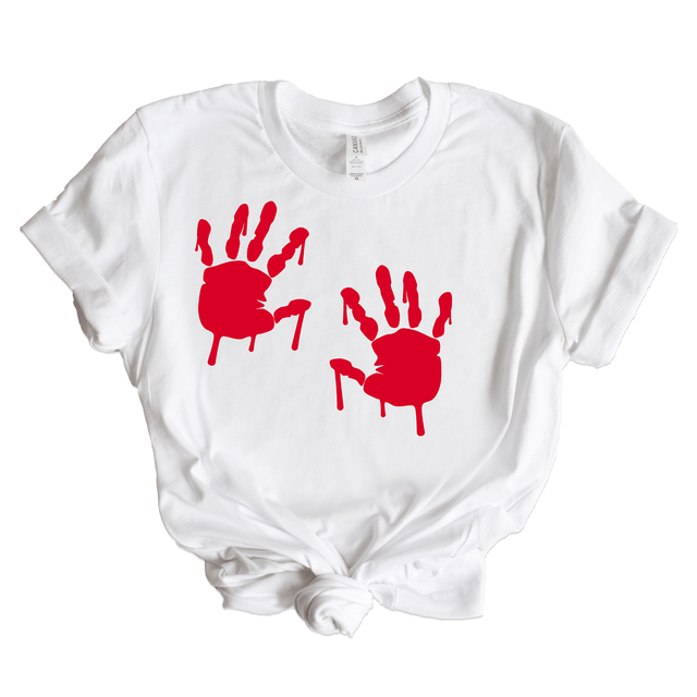 Women's Bloody Handprints Graphic Tee