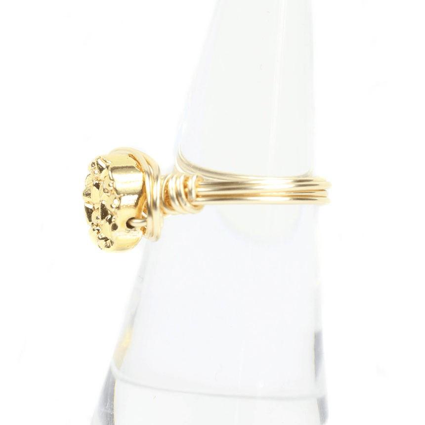 Bourbon And Boweties Gold Ring Side View
