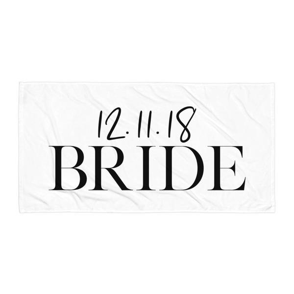 Personalized Bride And Groom Towel Set - Arlo and Arrows