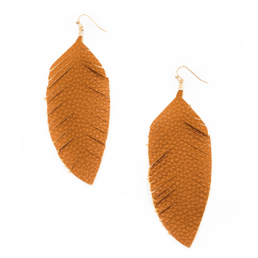 Game Day Feather Earrings