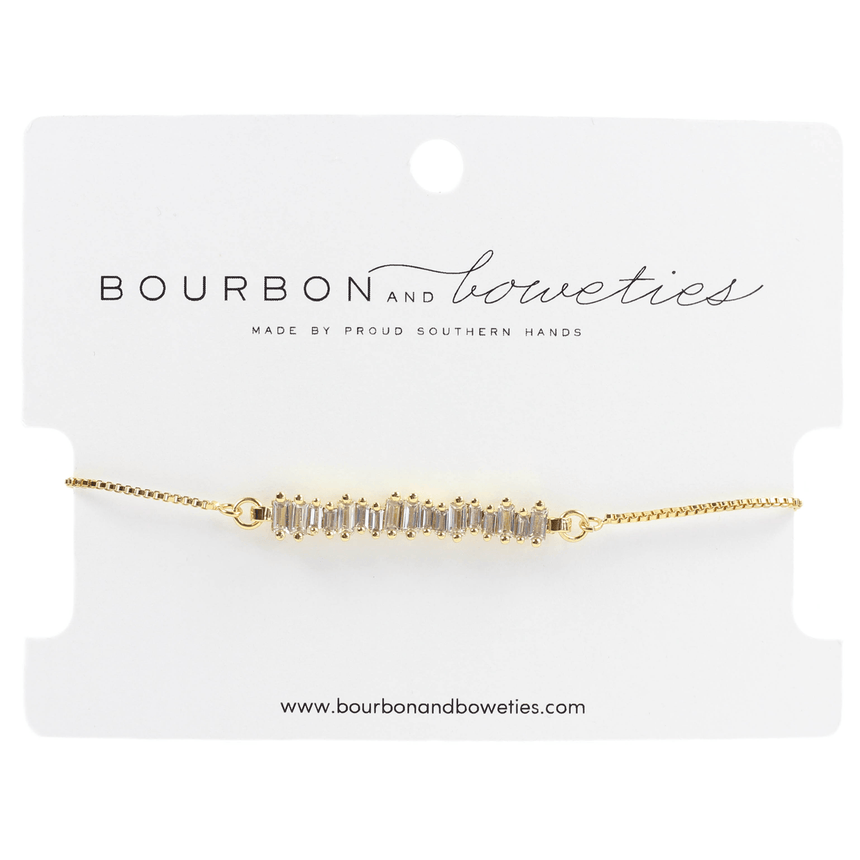 Clear Crystal Adjustable Bracelet - Bourbon And Boweties