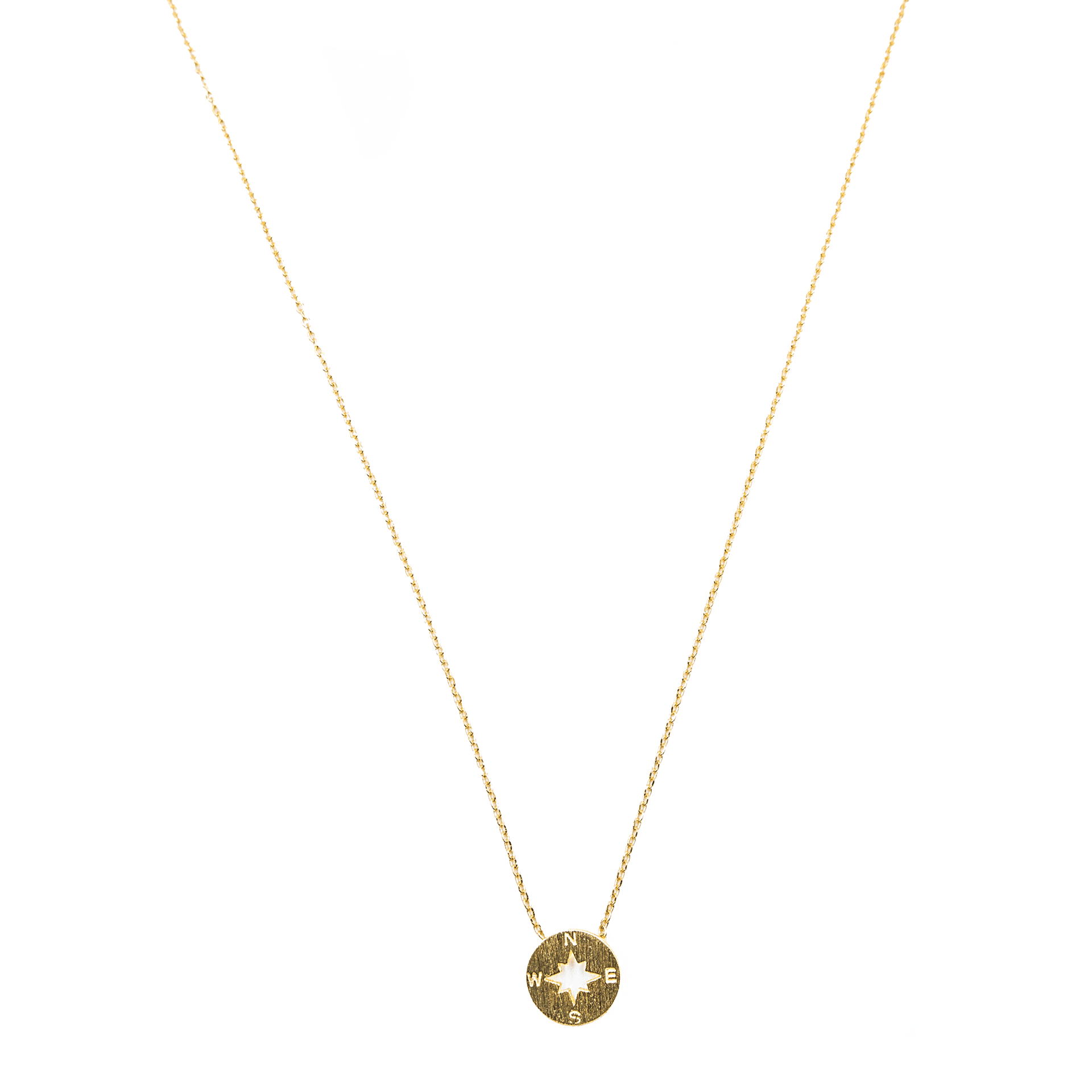 Gold Metal Compass Pendant Necklace - Arlo and Arrows