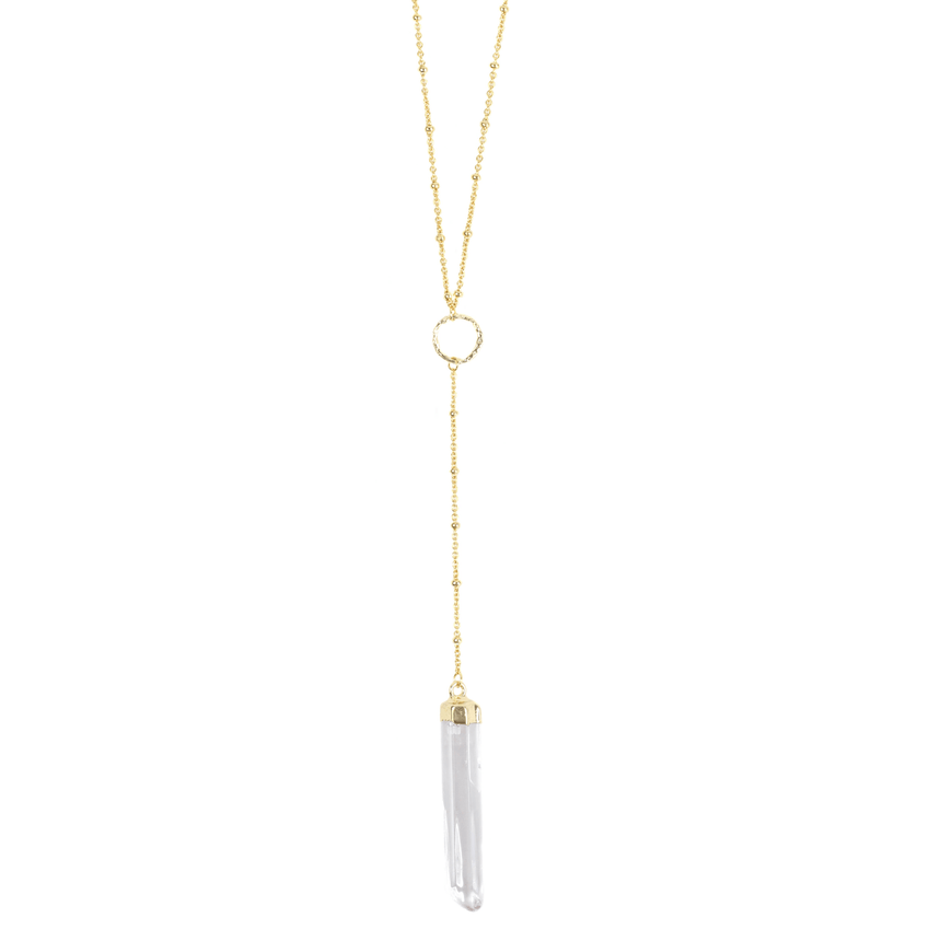 Clear Crystal Pendant Necklace