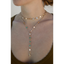 Seek and Found Drop Choker Necklace Set in Gold