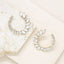 Round Crystal Circle Earrings