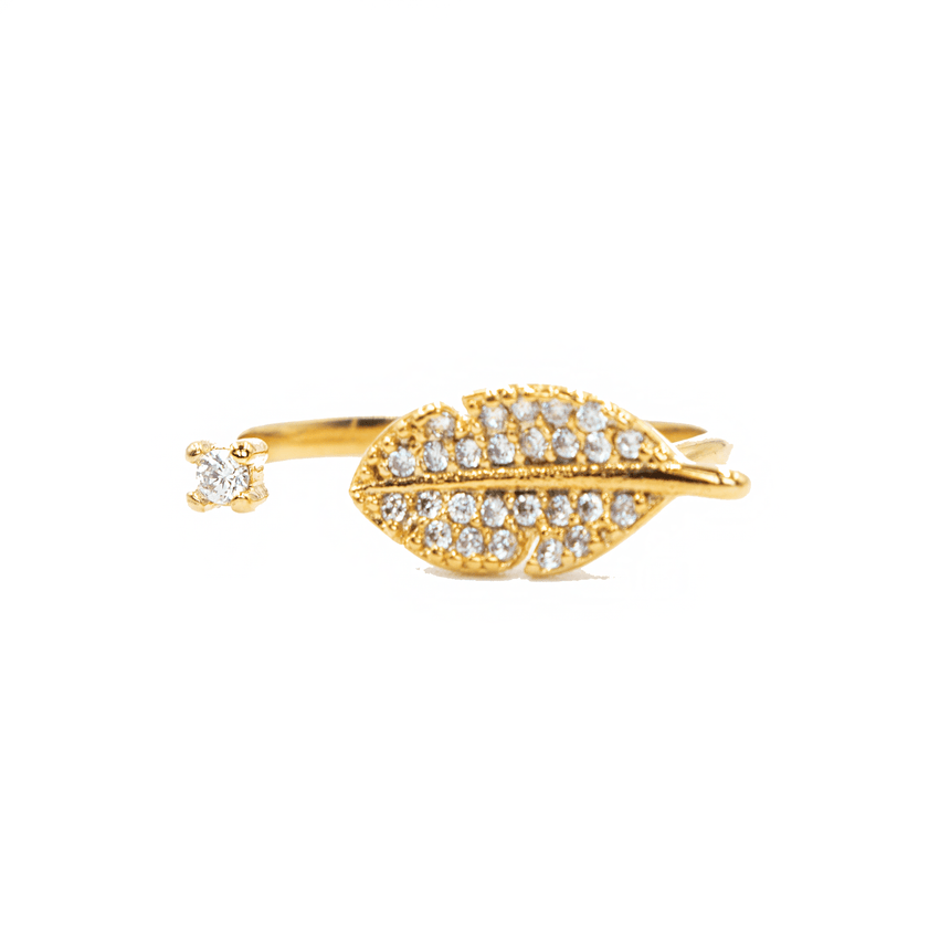 Leaf Ring 14k Gold