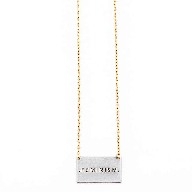 'Feminism' Mantra Pendant Necklace - Arlo and Arrows