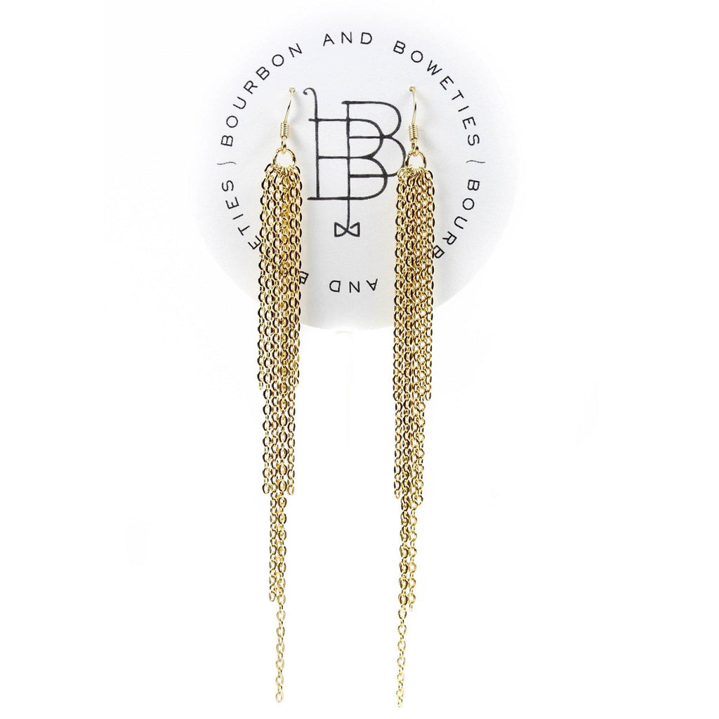 Gold Tassel Earring - Arlo and Arrows