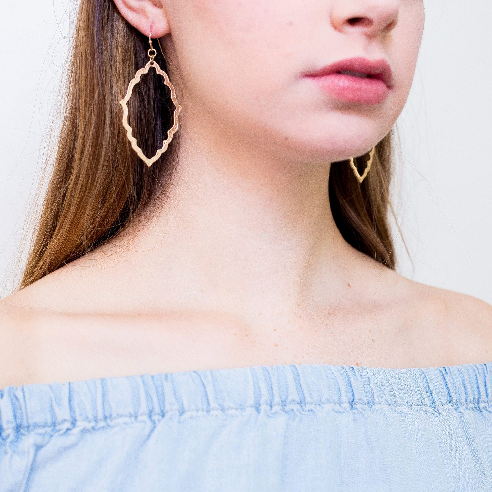 'Leah' Textile Drop Earrings - Arlo and Arrows