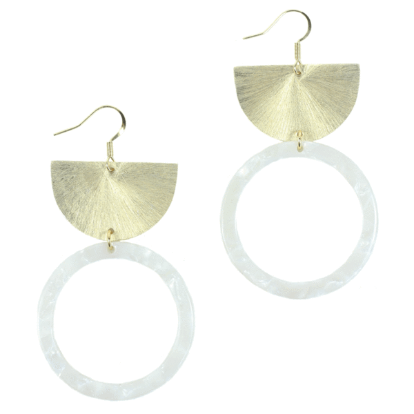 Acrylic Hoop Statement Earrings - Arlo And Arrows