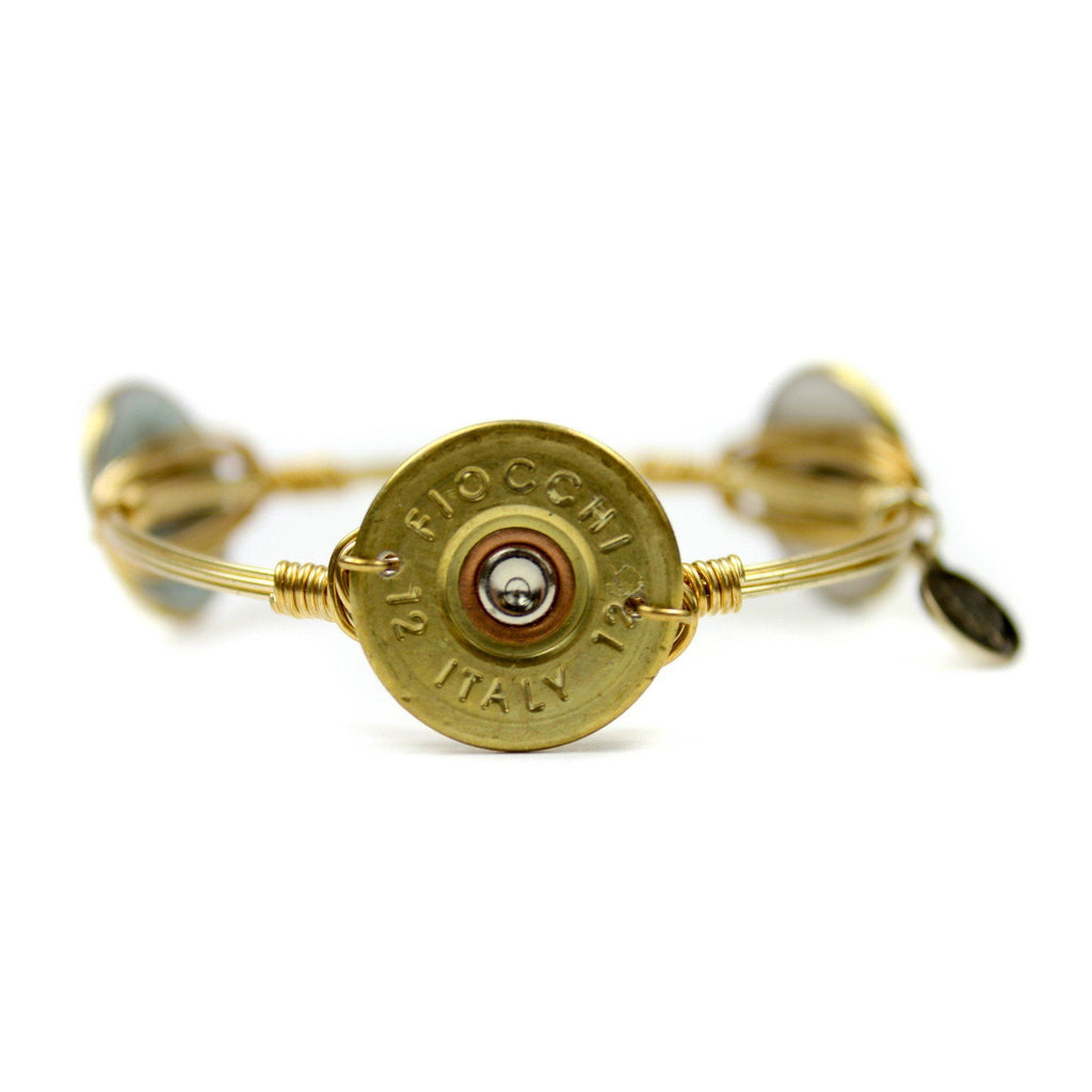 Gold Authentic Shotgun Shell Bangle Bracelet - Arlo and Arrows