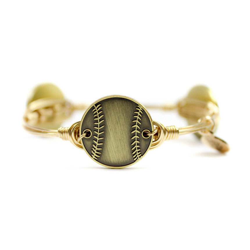 Gold Baseball Bangle Bracelet - Arlo and Arrows