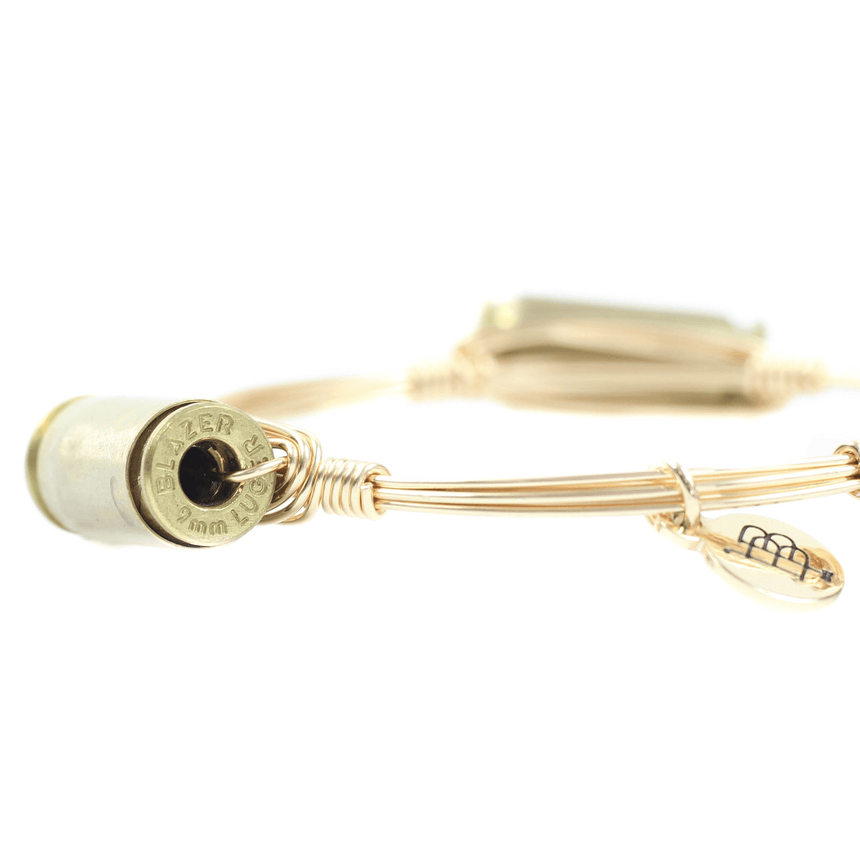 Gold Bullet Bracelet - Side View