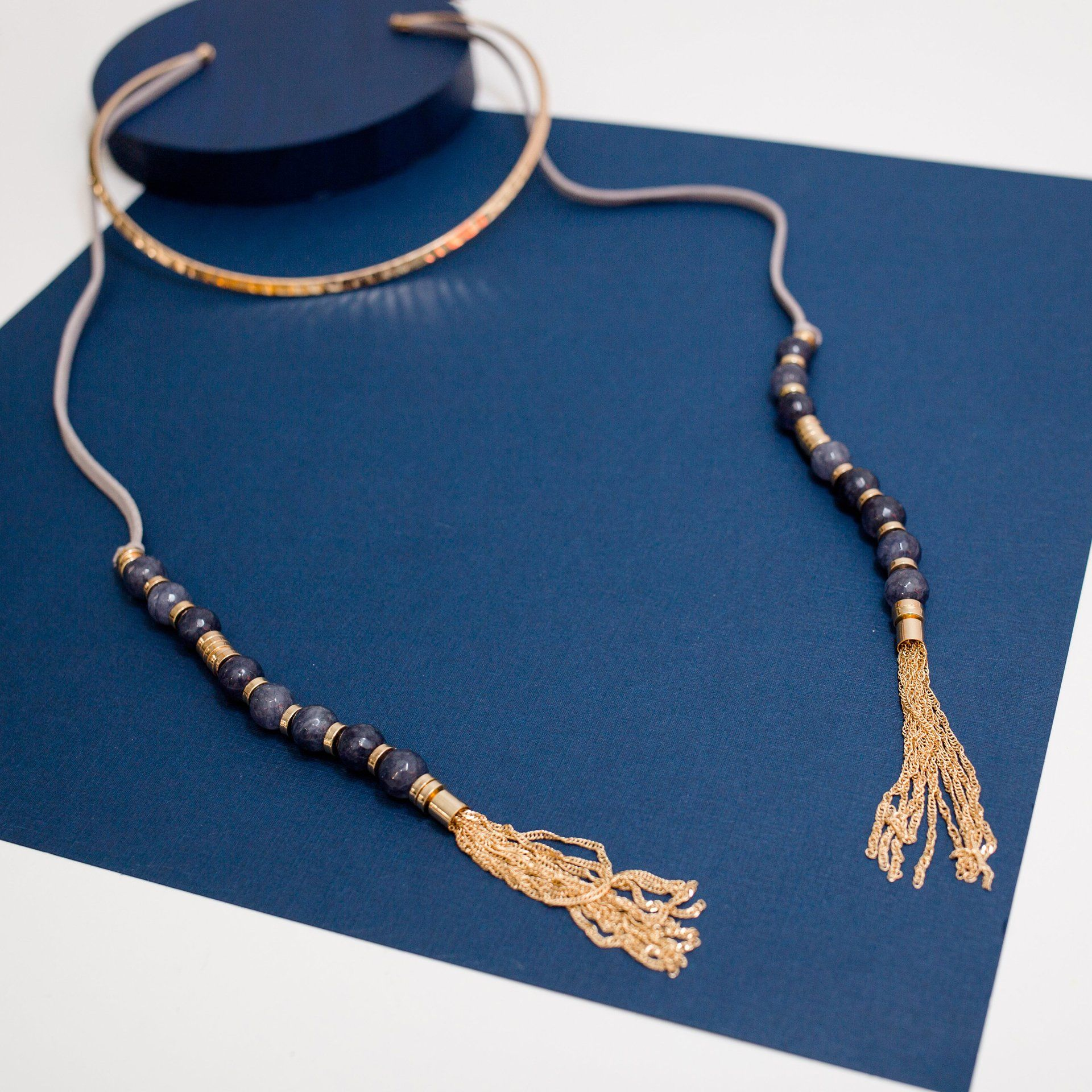 Suede Double Strand Collar Necklace - Arlo and Arrows