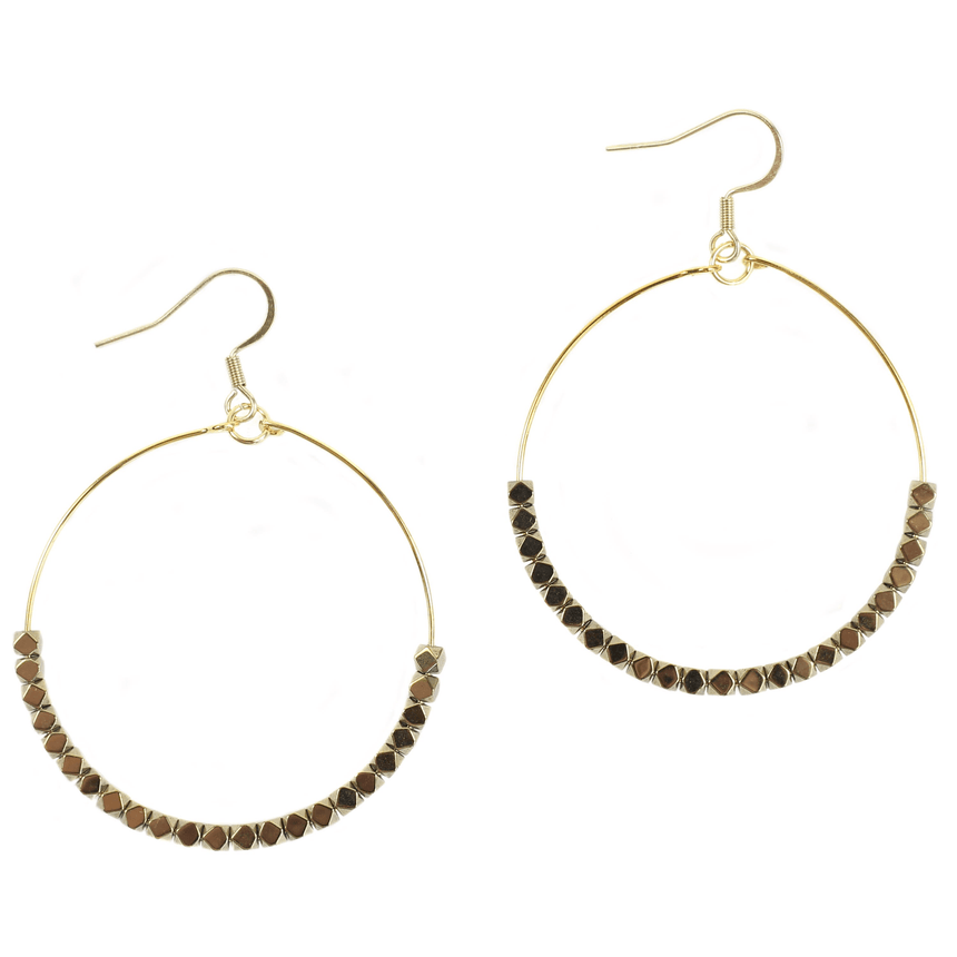 Gold Hoop Earrings - Bourbon And Boweties