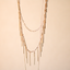 Layered Natural Stone Arrow Pendant Necklace (Two Colors)