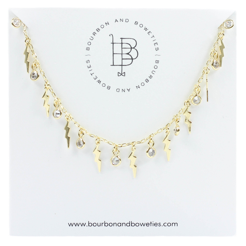 Gold Lightning Chain Necklace - Arlo And Arrows