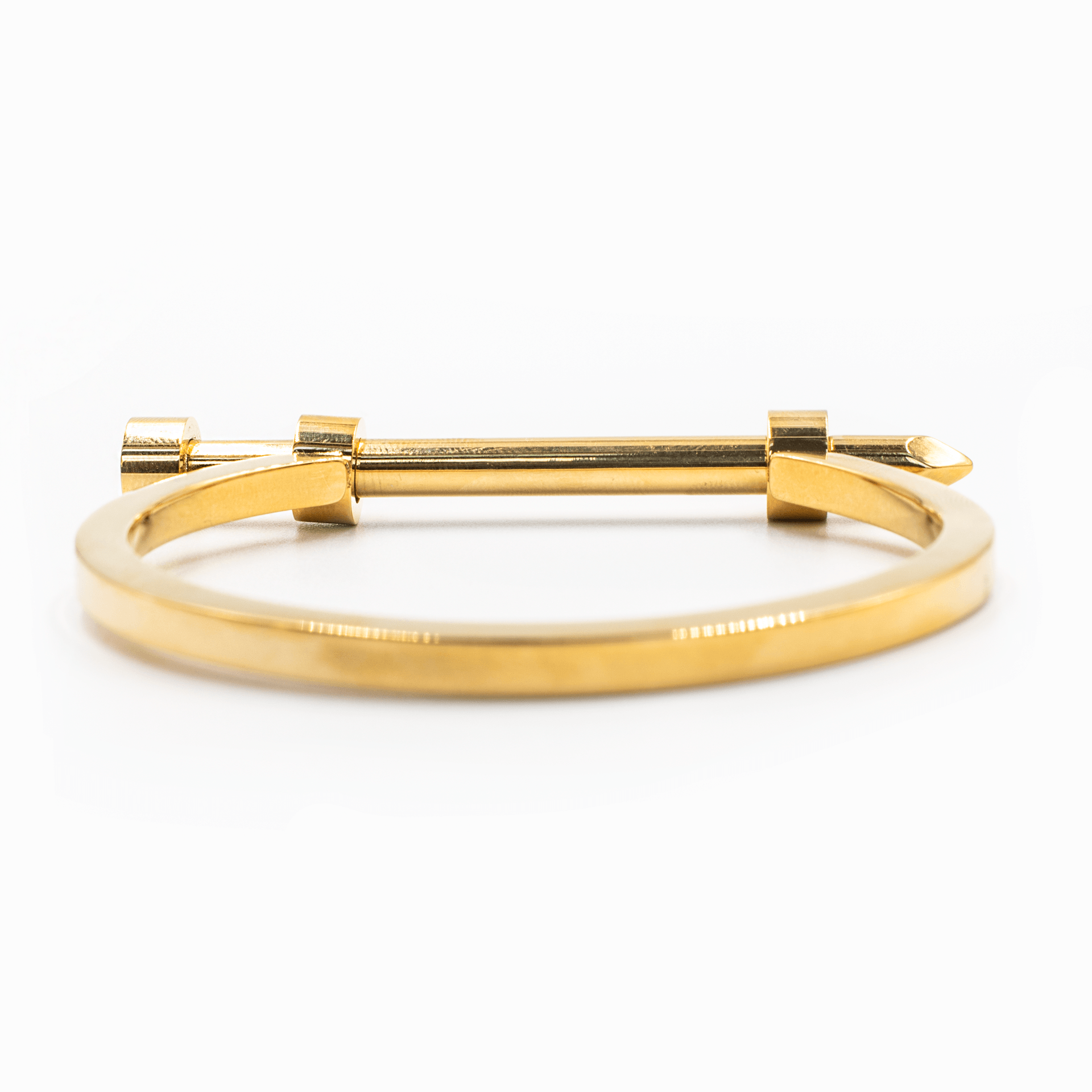 Gold Screw Bracelet Stainless Steel Back View