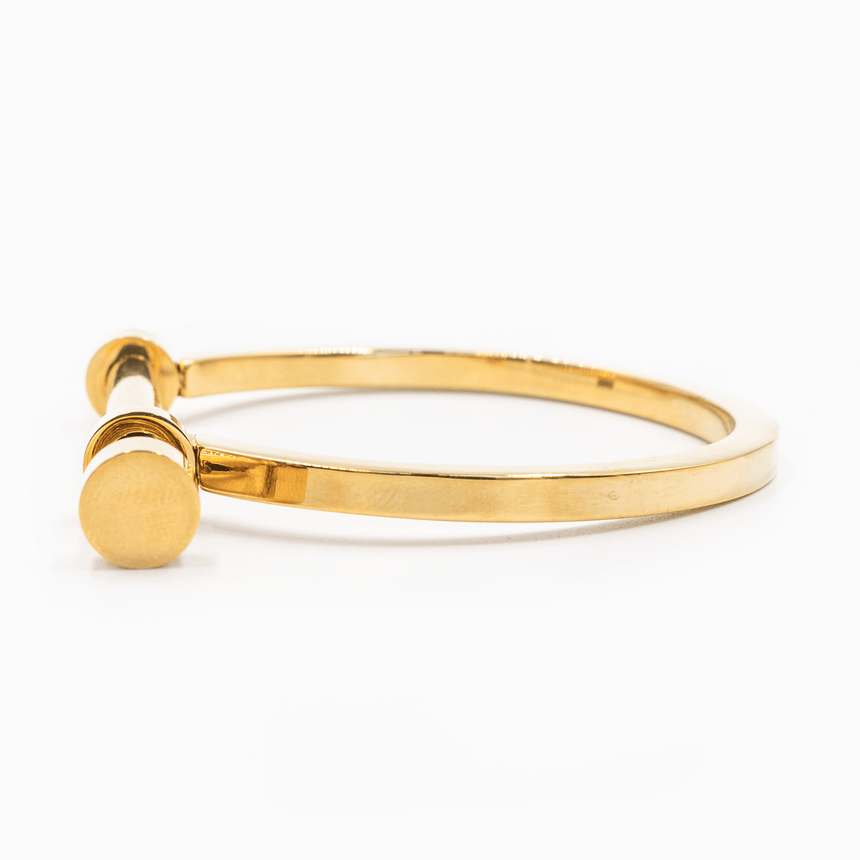 Gold Screw Bracelet Stainless Steel Side View