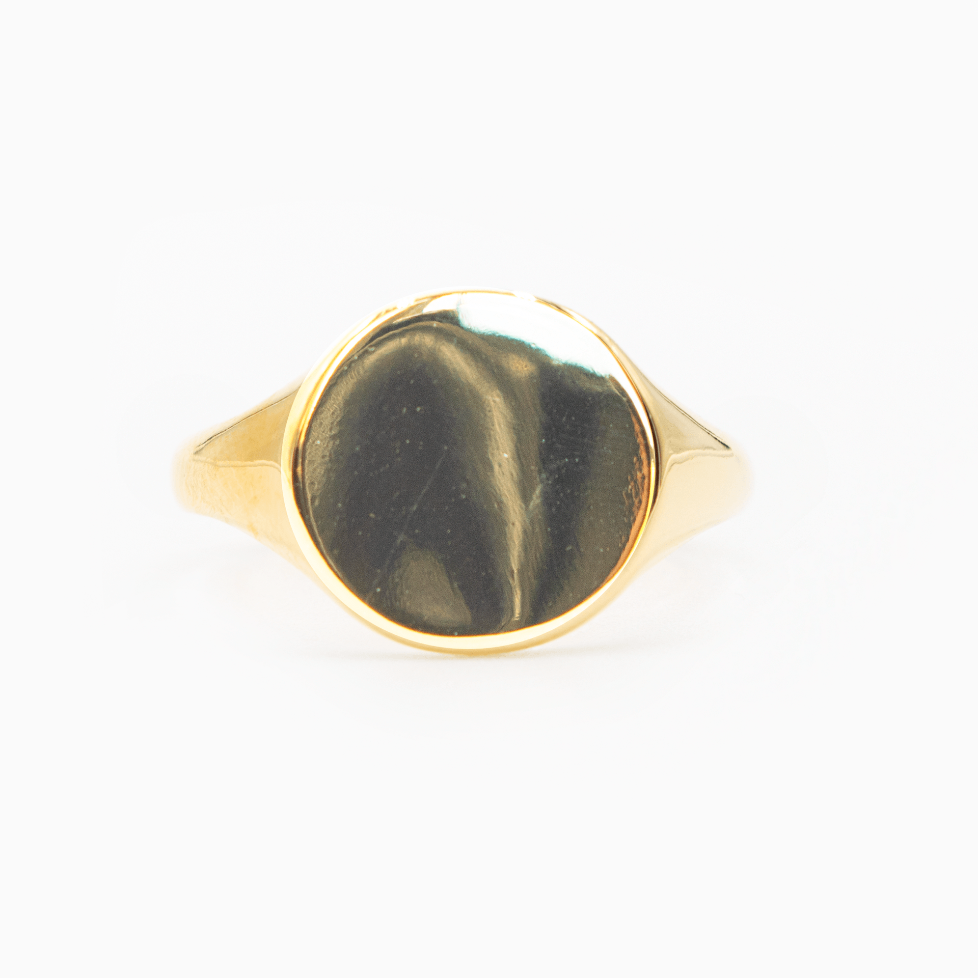 Signet Ring 14k Gold Adjustable Front View
