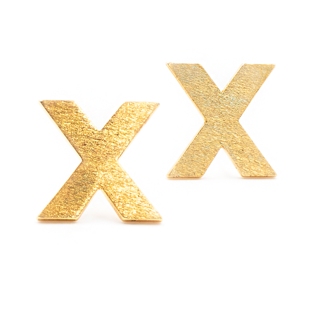 Gold X Shaped Stud Earrings - Arlo And Arrows