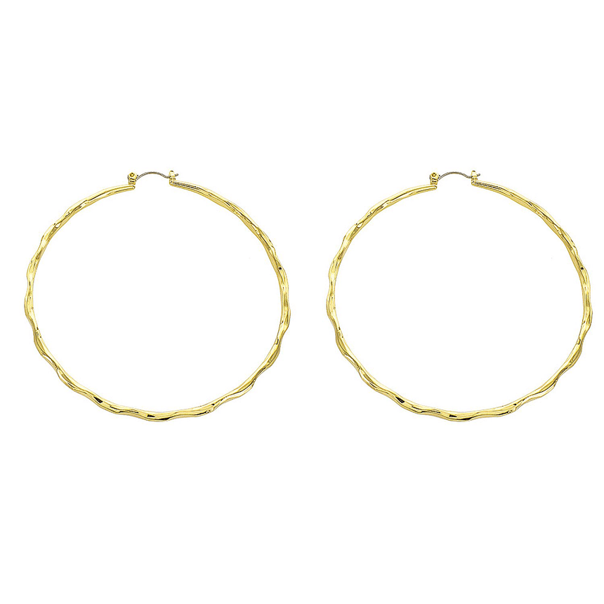 Hammered Gold Hoop Earrings - Arlo and Arrows